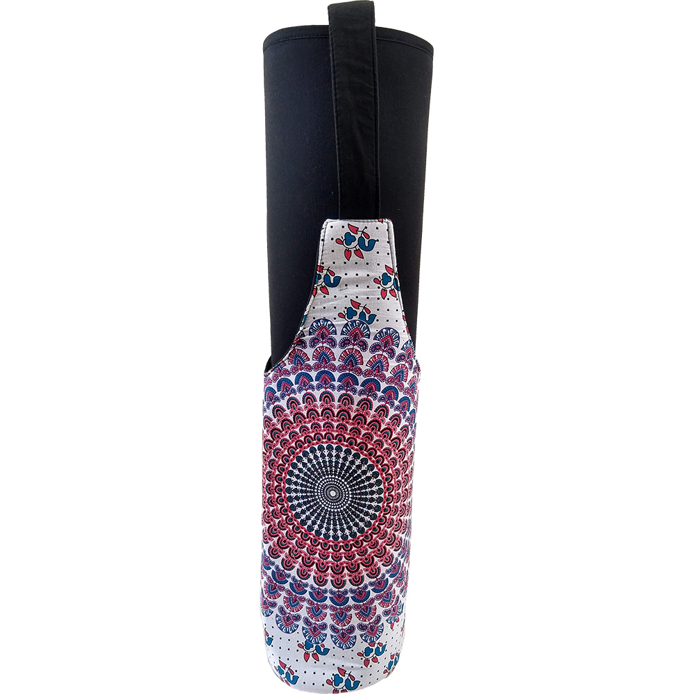 Mandala Bottle Shape Yoga Mat Bag – Cotton – Professional Studio Quality (EASY SANITIZATION)