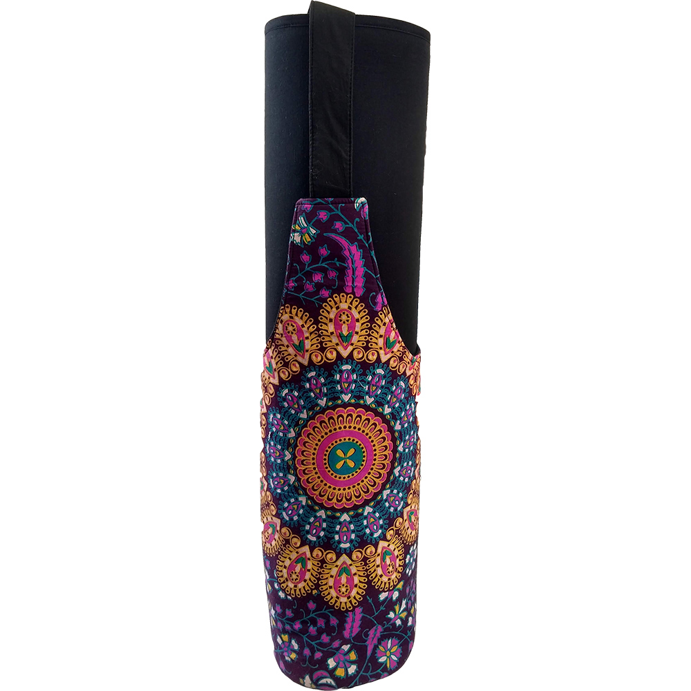 Ethnic Bottle Shape Yoga Mat Bag – Cotton – Professional Studio Quality (EASY SANITIZATION)