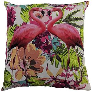 Flamingo Digital Cotton 16″ × 16″ Pillow