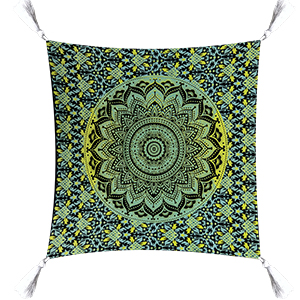 Fluorescent Cotton Ombre Pillow Case Indian Decorative Sofa Cushion Cover