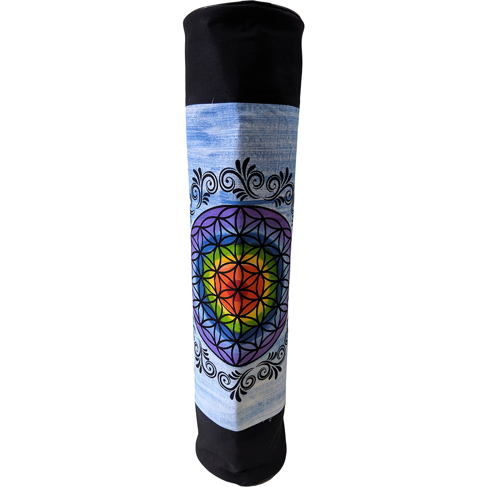 Ethnic Hand Painted Yoga Cotton Bolster Yoga Mat Bag