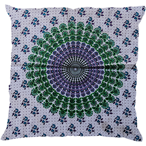Ethnic Cotton Mandala White Pillow Case Indian Decorative Sofa Cushion Cover