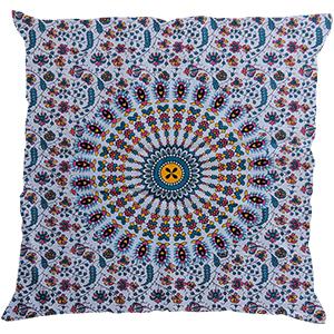 Ethnic Cotton Mandala White Pillow Case Indian Decorative Sofa Cushion Cover