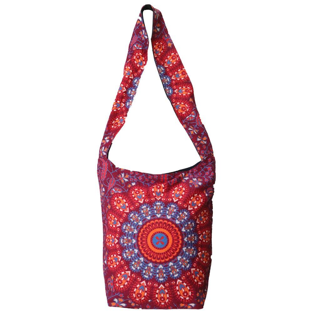 Maroon Mandala Cotton Tote Bag Screen Printed