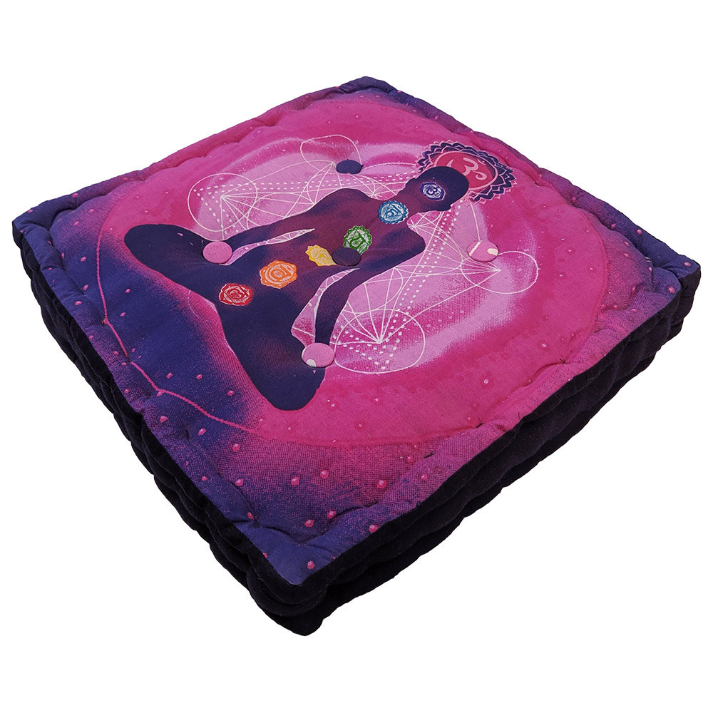Meditation Square cushion Cotton Filled, Floor pillow, Meditation pillow