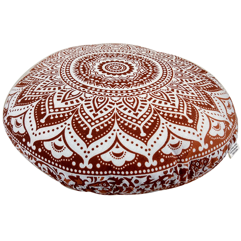 Ombre Meditation Round Cushion Cotton Filled, Floor pillow, Meditation pillow
