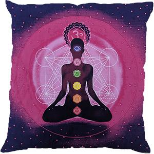 Purple Pink Screenprint Cotton 16″ × 16″ Pillow