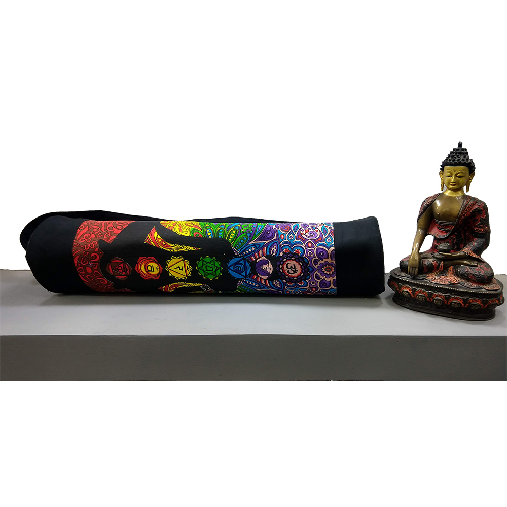 psychoactive Chakra Yoga Cotton Bolster Yoga Mat Bag